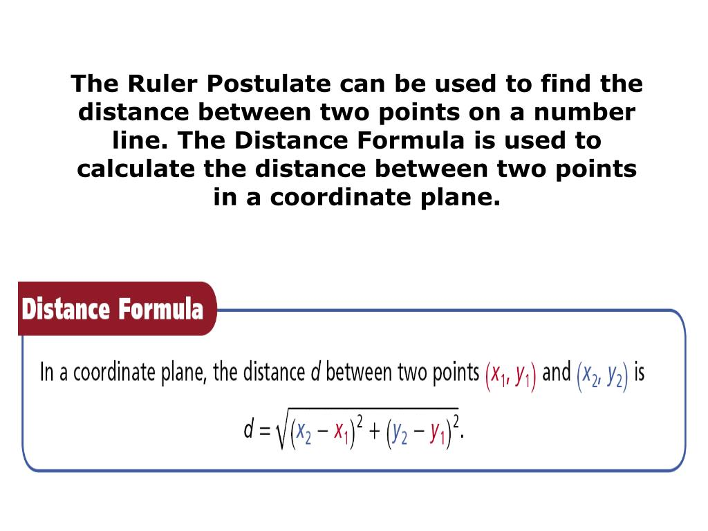 PPT - Chapter 1 7 Midpoint and Distance in a Coordinate