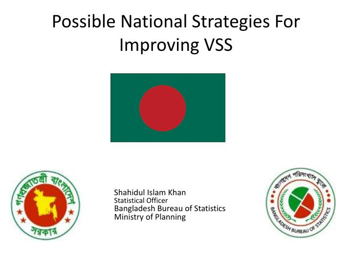 Possible national strategies for improving vss