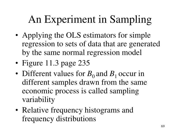 An Experiment in Sampling