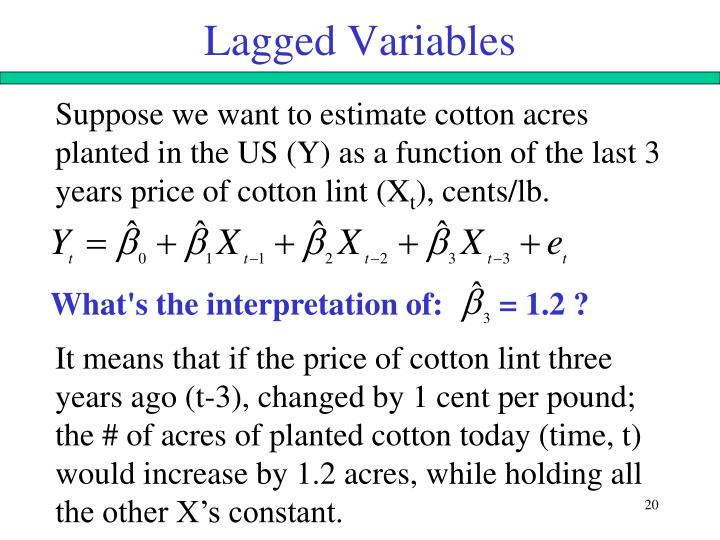 Lagged Variables