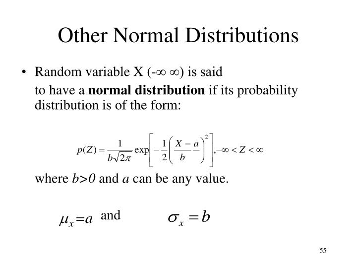 Other Normal Distributions