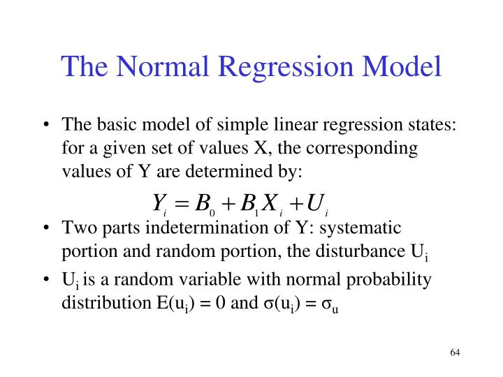 The Normal Regression Model