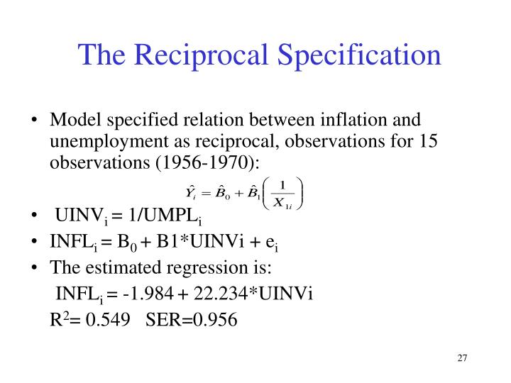 The Reciprocal Specification