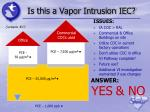 is this a vapor intrusion iec11