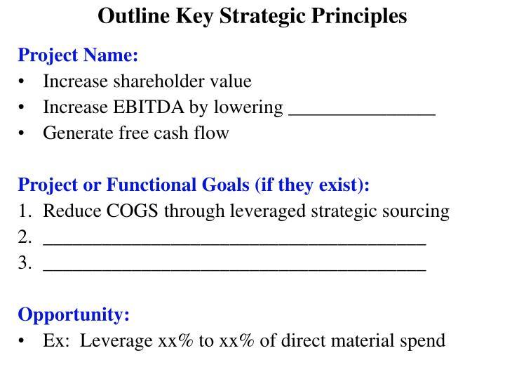 Outline Key Strategic Principles