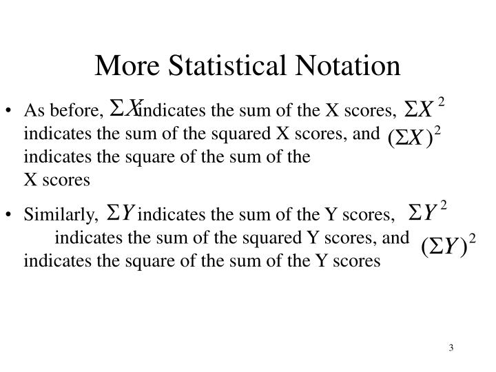 More statistical notation1