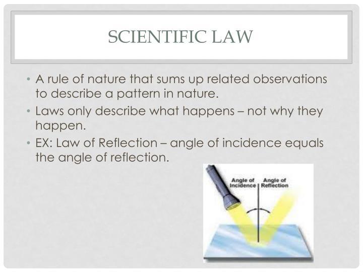 Scientific Law