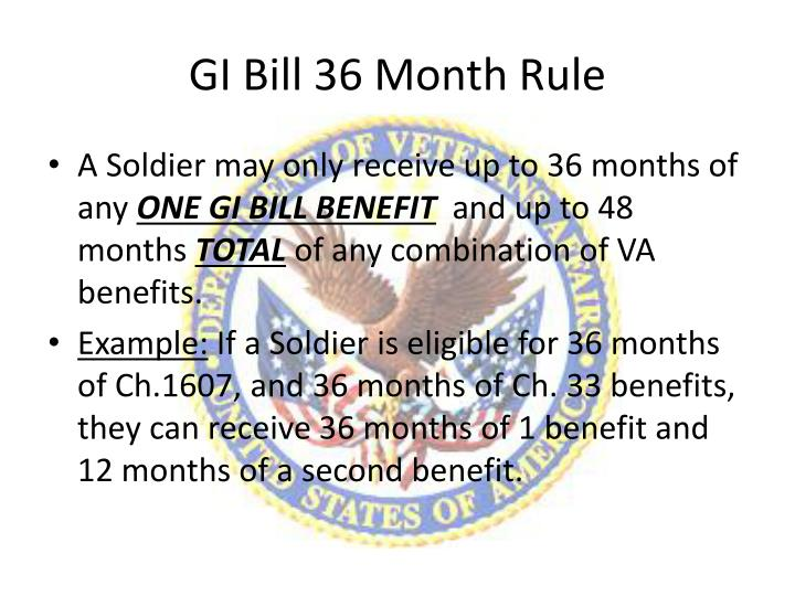 GI Bill 36 Month Rule