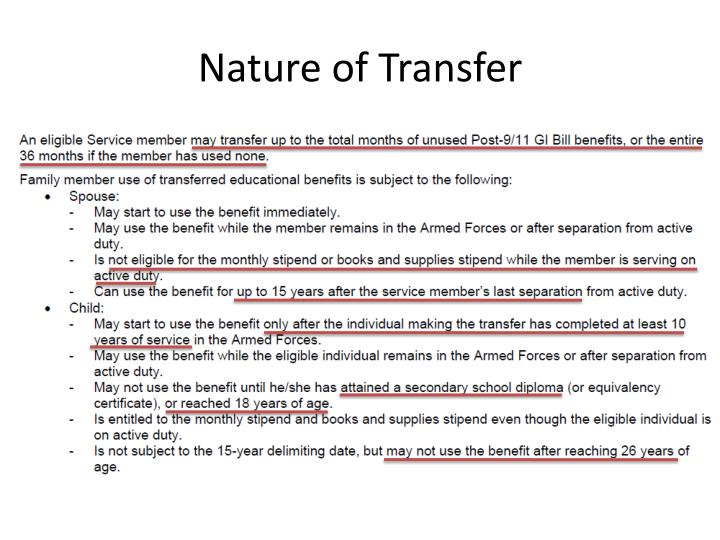 Nature of Transfer