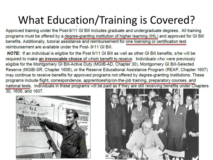 What Education/Training is Covered?