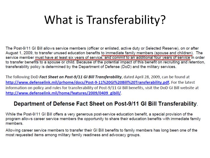 What is Transferability?