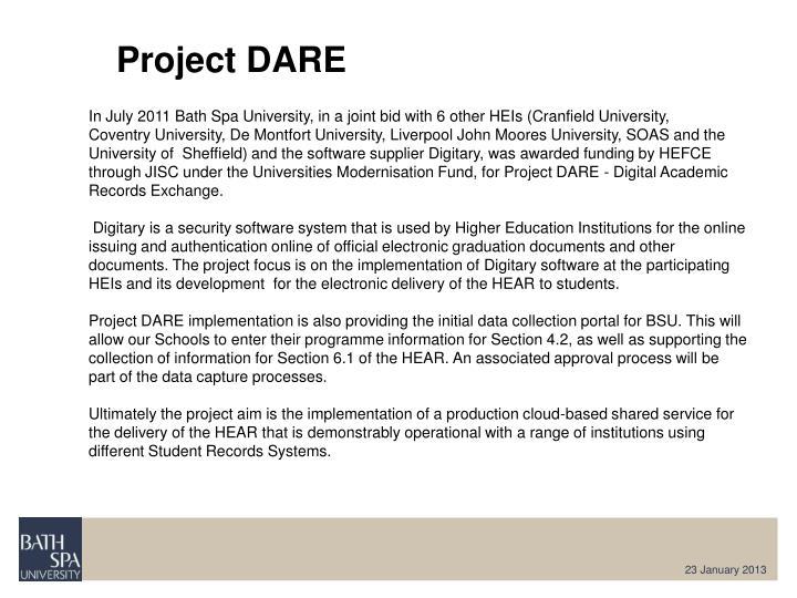 Project DARE