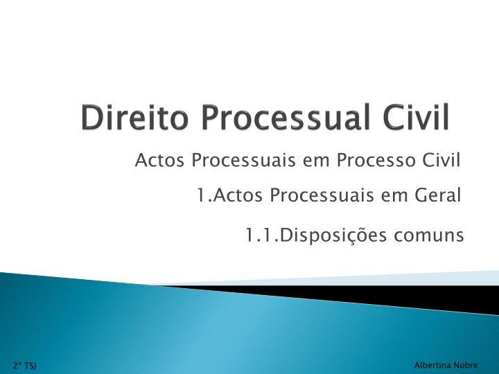 Direito processual civil1