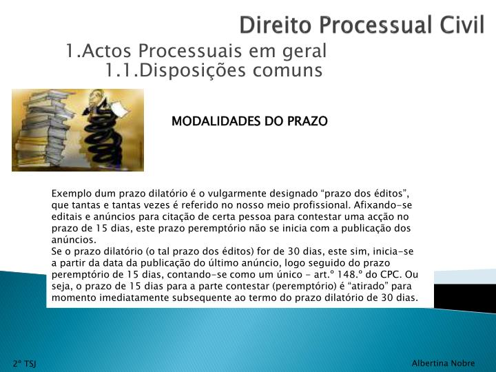 1.1.Disposições comuns