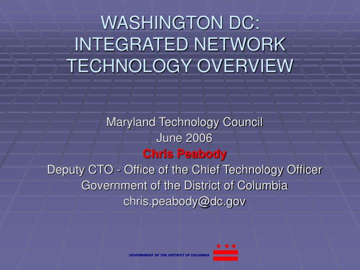 washington dc integrated network technology overview n.