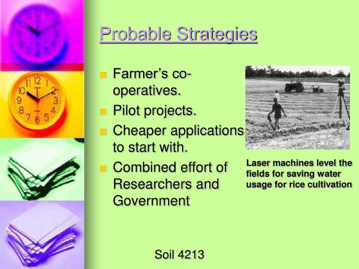 Probable Strategies