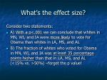 what s the effect size1