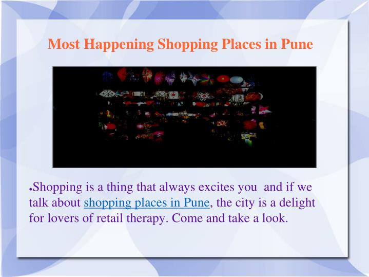 most happening shopping places in pune n.