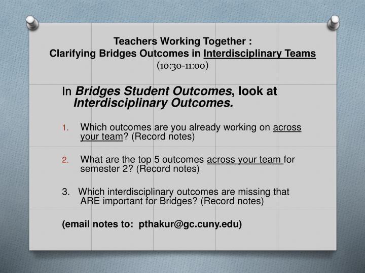 Teachers Working Together :