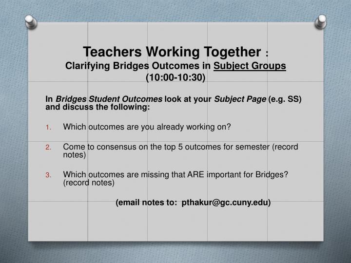 Teachers Working Together
