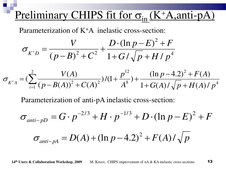Preliminary CHIPS fit for