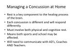 managing a concussion at home