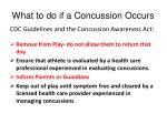what to do if a concussion occurs
