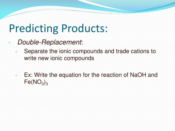 Predicting Products:
