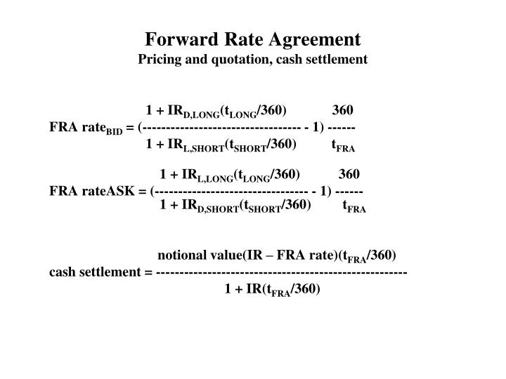 Ppt 5 6 fra and fx swaps powerpoint presentation id4667511 forward rate agreementpricing and quotation cash settlement platinumwayz