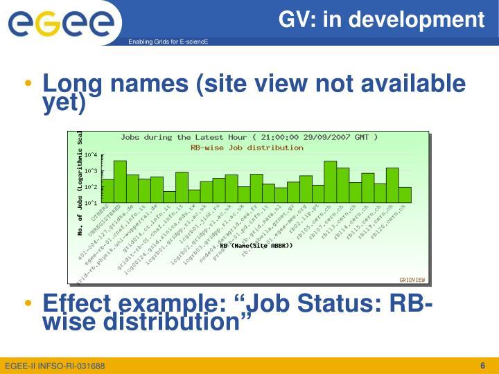 GV: in development