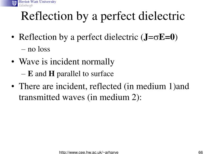 Reflection by a perfect dielectric