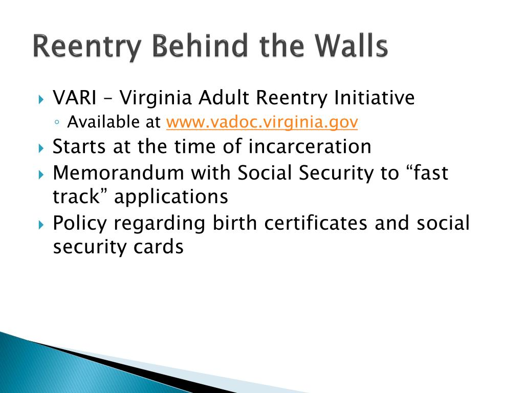 PPT - Prisoner Reentry and Homelessness PowerPoint