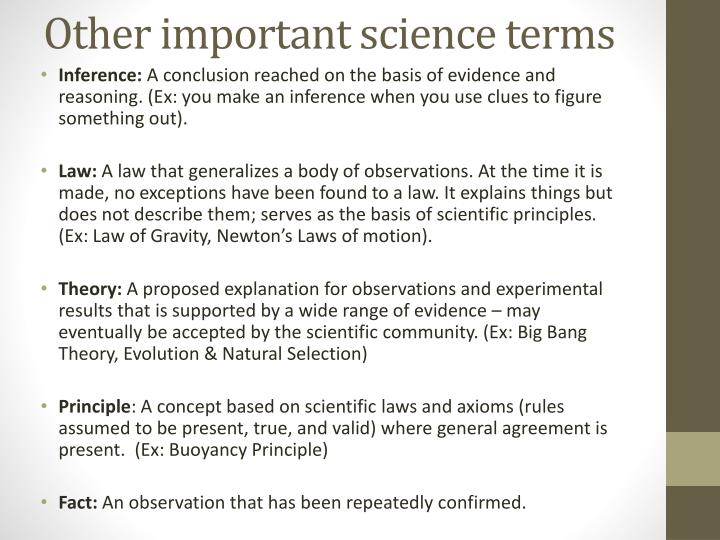 what is a conclusion in science terms