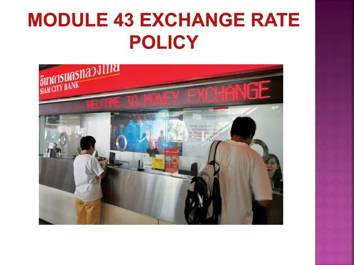 module 43 exchange rate policy n.