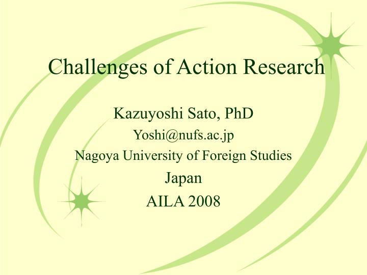 challenges of action research n.
