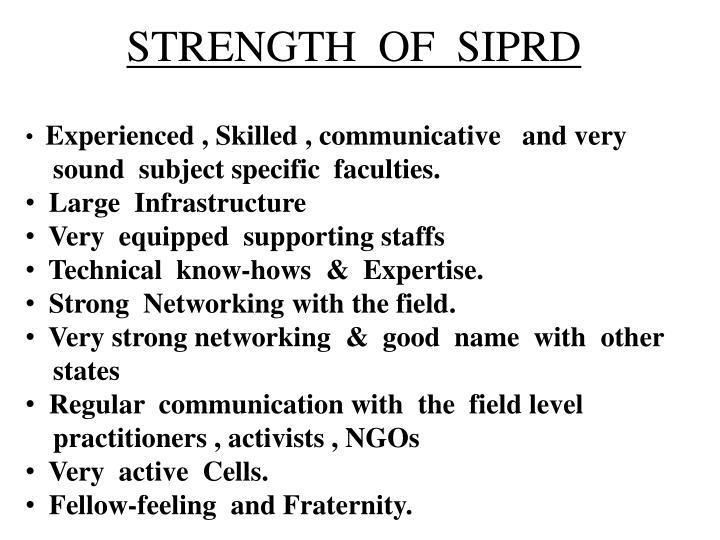 STRENGTH  OF  SIPRD