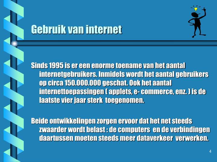 Gebruik van internet