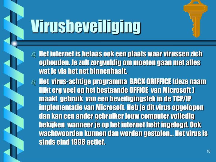 Virusbeveiliging