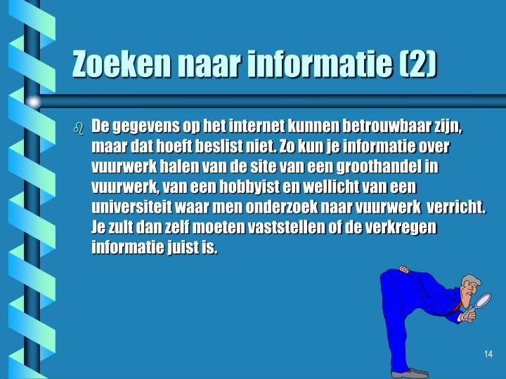 Zoeken naar informatie (2)
