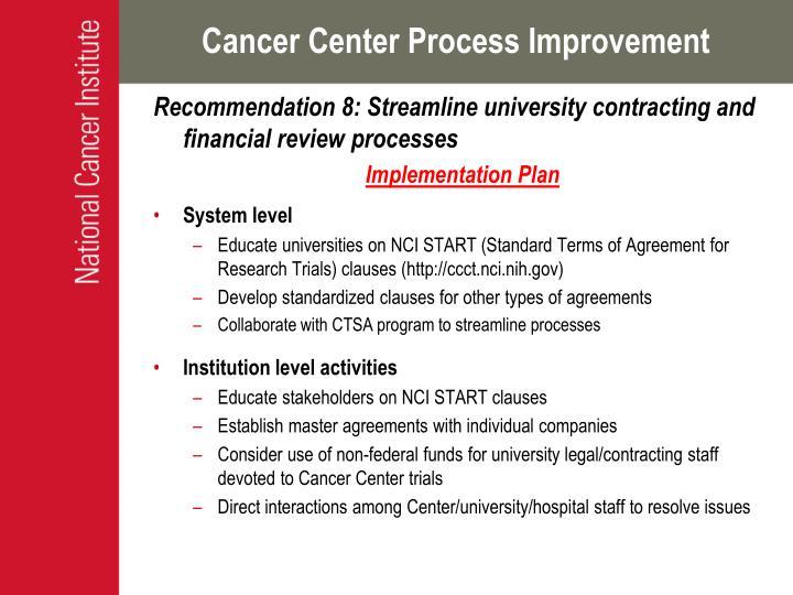 Cancer Center Process Improvement