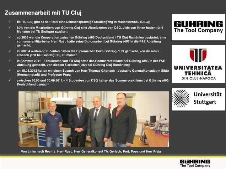 Zusammenarbeit mit TU