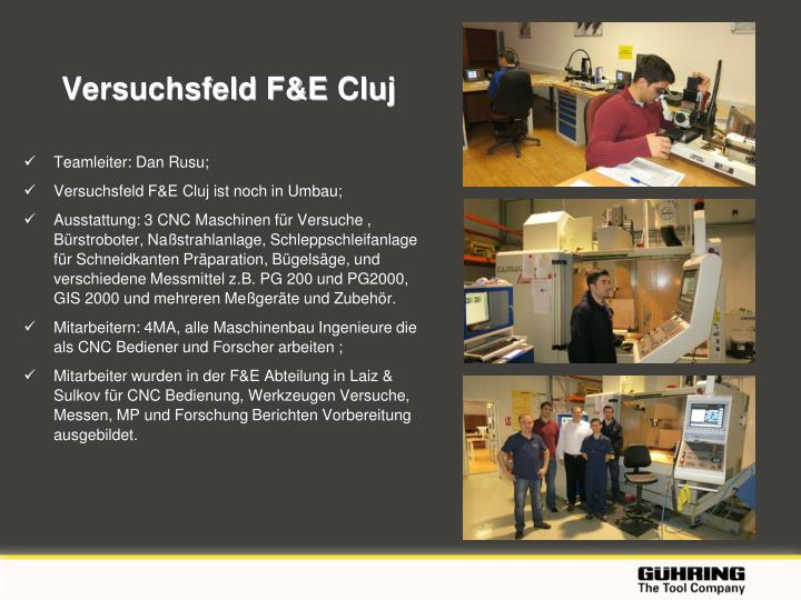 Versuchsfeld F&E