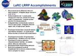 larc lrrp accomplishments