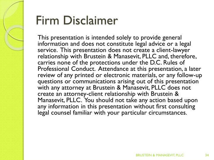 Firm Disclaimer