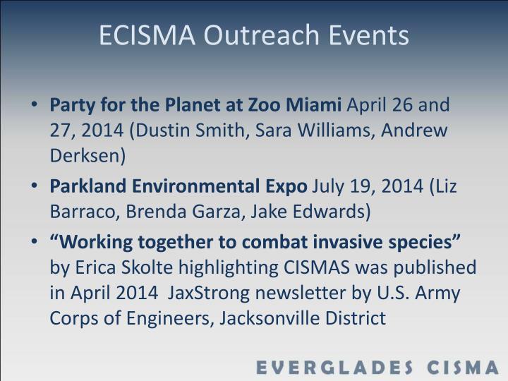 ECISMA Outreach Events