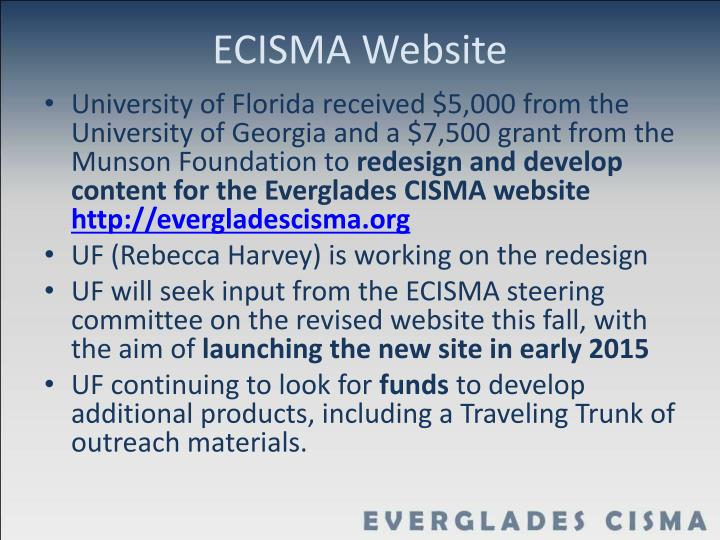 ECISMA Website