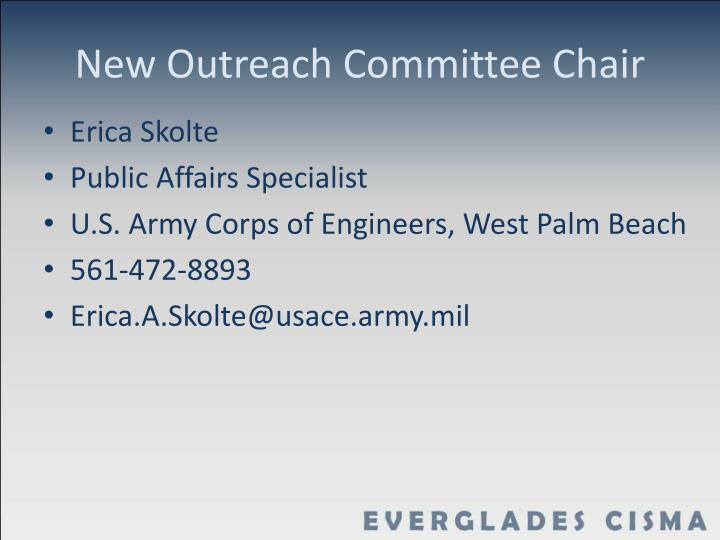 New outreach committee chair