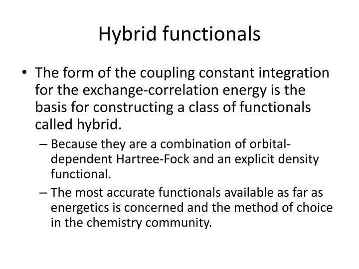 Hybrid functionals
