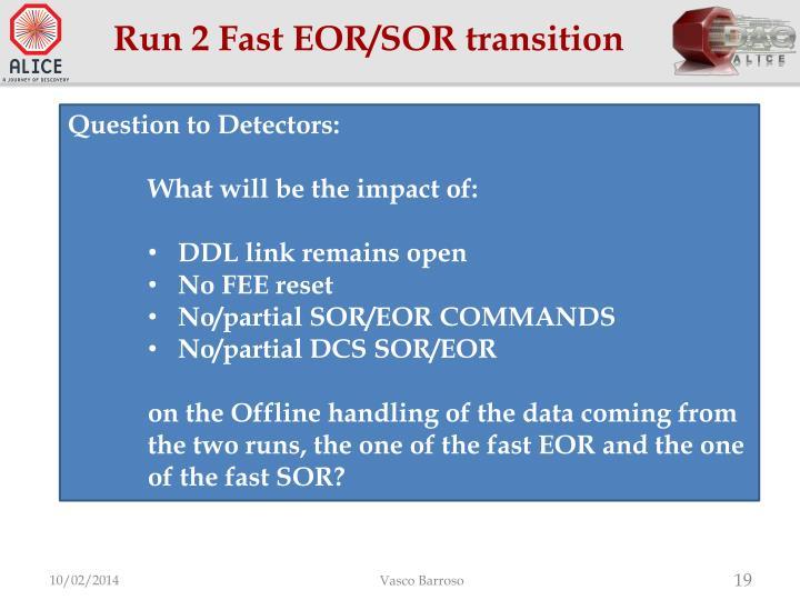 Run 2 Fast EOR/SOR transition