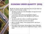 economic order quantity eoq
